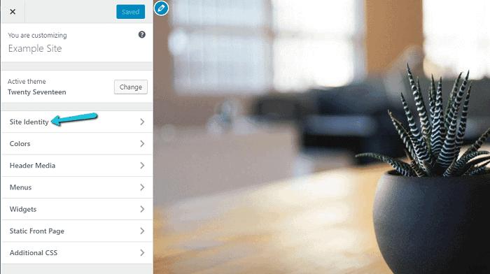WordPress – Site Identity