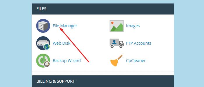 File Manager - Delete WordPress