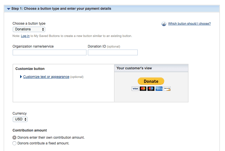 PayPal Donations Button Style