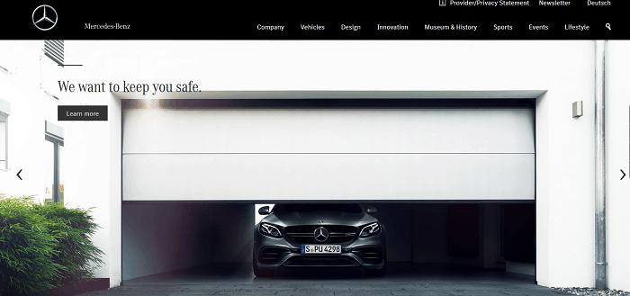 Mercedes Benz - Company Website