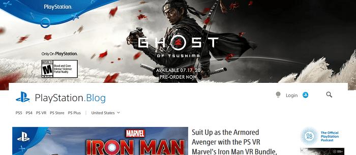 PlayStation - Gaming Platform Blog