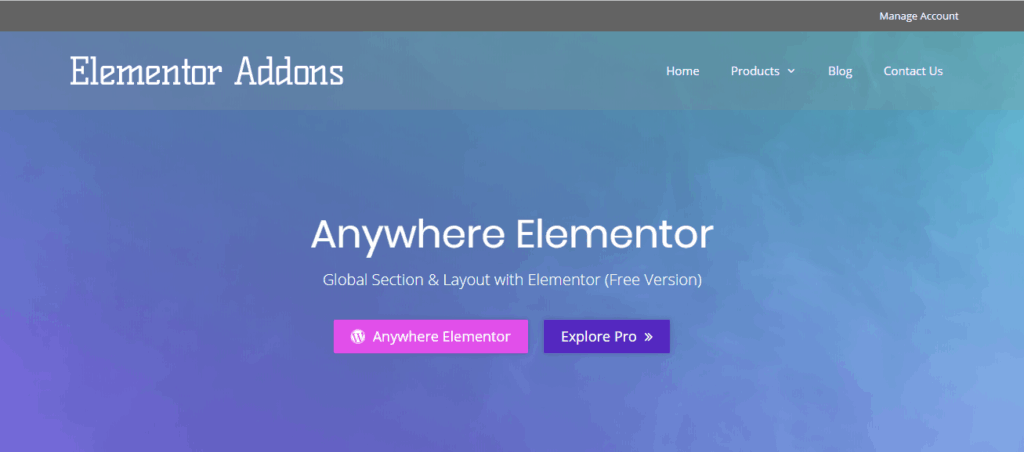 Anywhere Elementor
