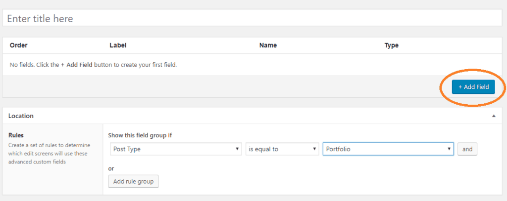 Add Fields to Group