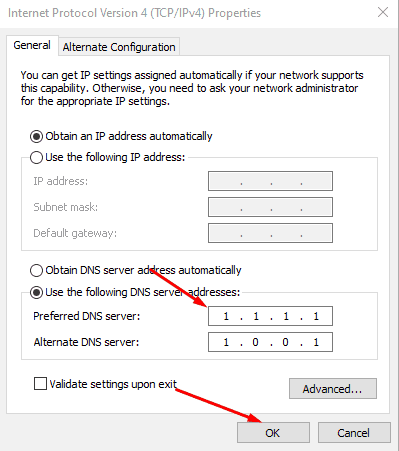 DNS Server Addresses