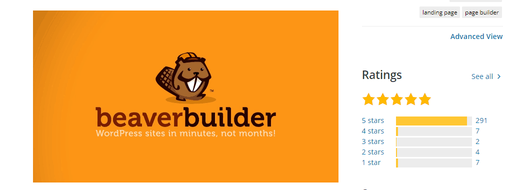 Beaver Builder Ratings