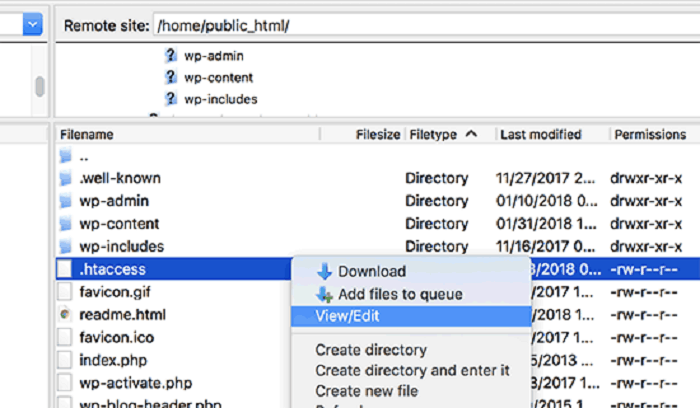 Create .htaccess File