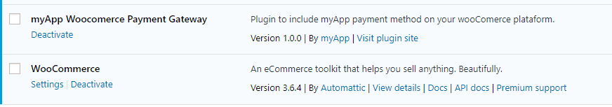 Plugin Activation