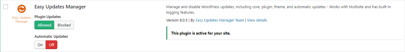 Choose Plugin to Update Automatically