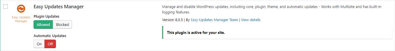 Choose Plugin to Update Automatically